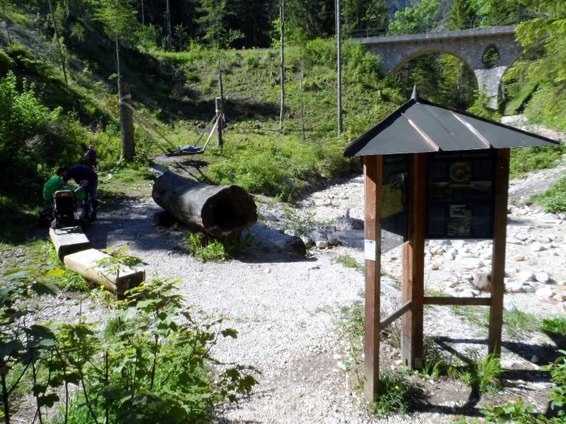 Infotafeln und Spielplatz am Weißbach