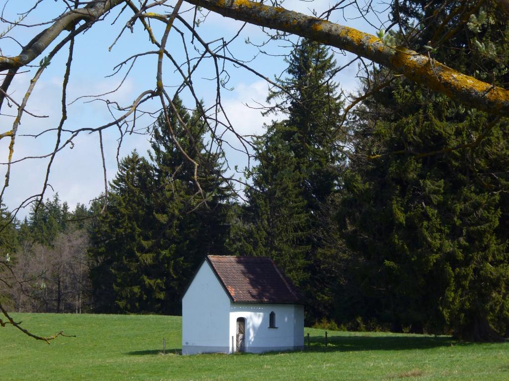 Versteckt am Waldrand steht die kleine Kapelle wenig nördlich von Resle. (Monika Heindl)