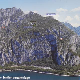 Übersichtstafel Monte Coltignone mit seinen Steigen