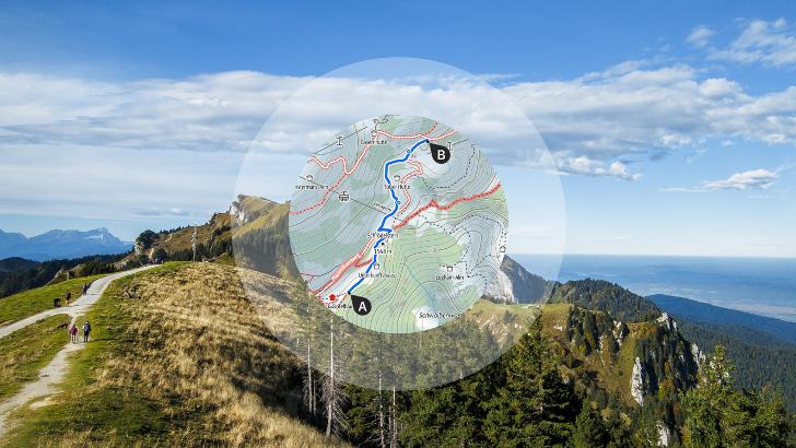 Entfernungsmesser Route : Der praktische routenplaner für wanderer radfahrer und bergsteiger