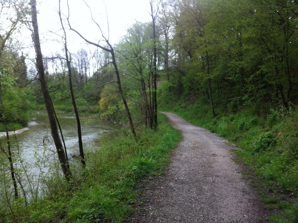 An der Ammer gibt es wunderschöne Wanderwege. ()