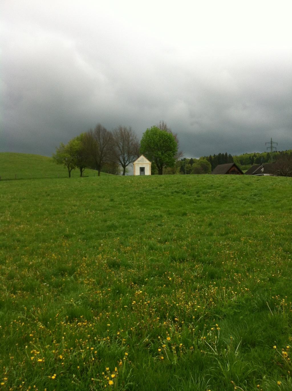 Inmitten saftiger Wiesen befindet sich die kleine Kapelle bei Marnbach. (Antonie Schmid)