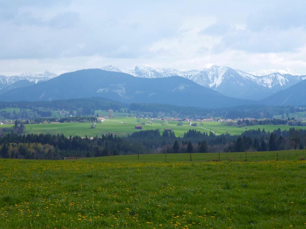 Begleitet von einem grandiosen Bergblick geht es zurück nach Schönberg. (Monika Heindl)