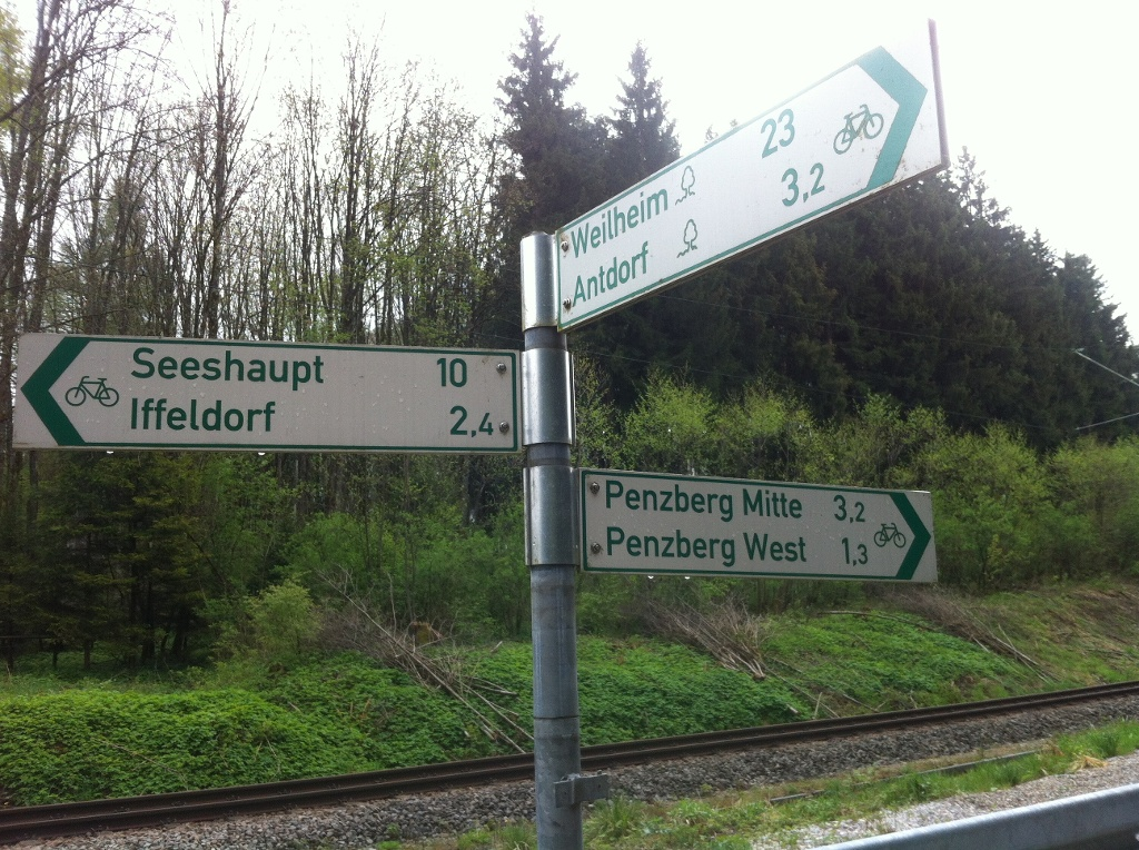 Der Weg von Penzberg nach Iffeldorf ist gut beschildert. ()