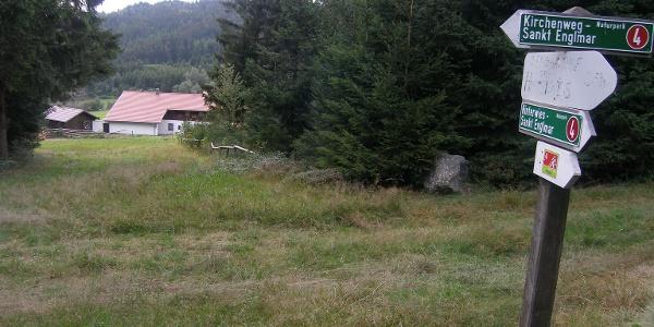 In Hinterwies führt unser Rückweg nach St. Englmar an der Westseite des Pröller entlang.