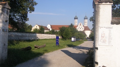Ziel unserer Tour ist das Kloster Benediktbeuern.