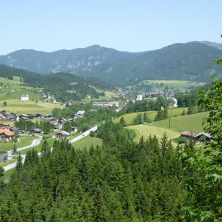 Blick über Achenkirch in nördl. Richtung