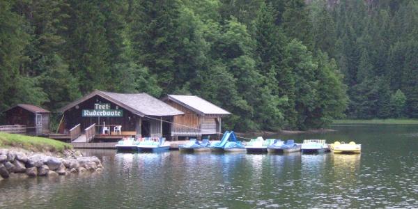 Der Tretbootverleih am Spitzingsee.