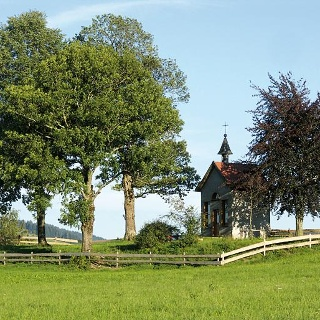 Die Pestkapelle am Lautenberg.