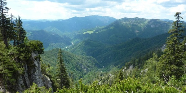 Blick zurück Richtung Neuberg