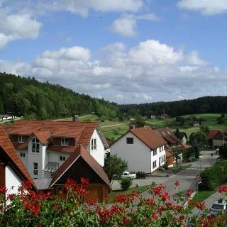 Ausblick von einem Balkonzimmer