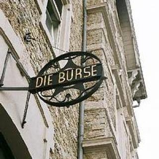 Schild ,,Burse