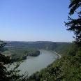 Der Blick vom Hochstein auf die Donau.