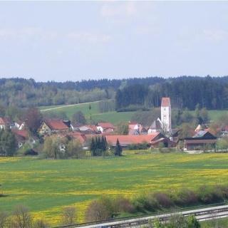 Blick auf Kirchdorf.