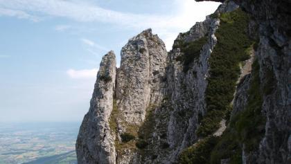 Nische mit Wegbuch um 1510 m, Blick nach Norden