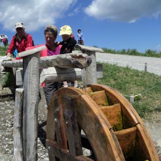 Erste Station beim Burmiwasser-Erlebnisweg.