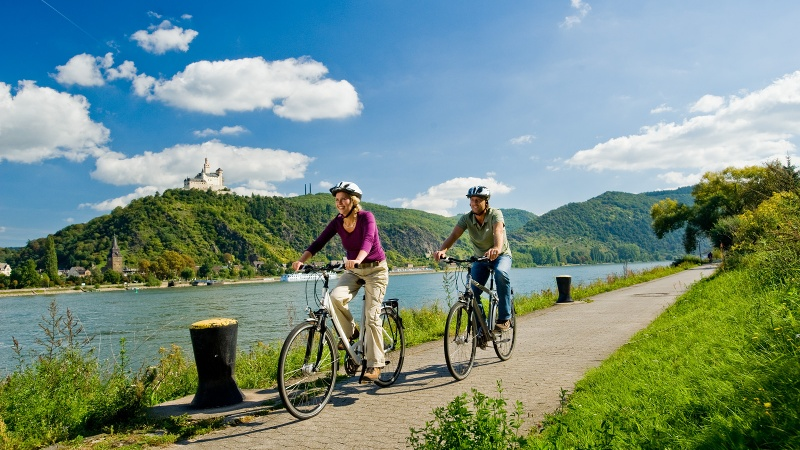Radfahren am Romantischen Rhein