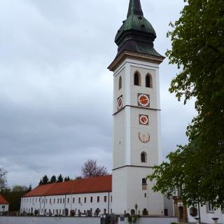 Die ehemalige Stiftskirche des Klosters Rottenbuch.