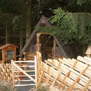 Holzfällerhütte am Kulturlandschaftsweg