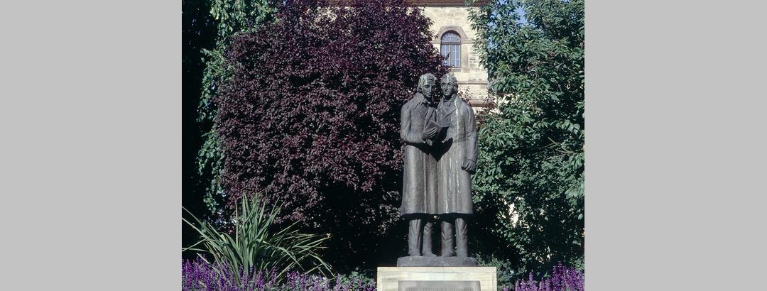 Das Denkmal für die Brüder Grimm.