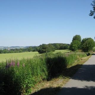 Richtung Annaberg, Blick zur Annenkirche