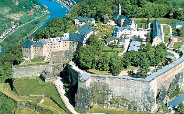 Foto Der Höhepunkt unserer Wanderung ist die Festung Königstein.