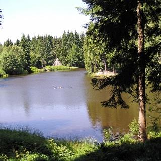Die Landschaft im Quellgebiet der Roten Mulde bei Schöneck.