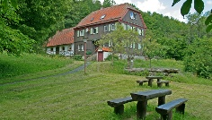 Das Schweinfurter Haus am Fuße des Gangolfsbergs bietet ideale Rastmöglichkeiten.