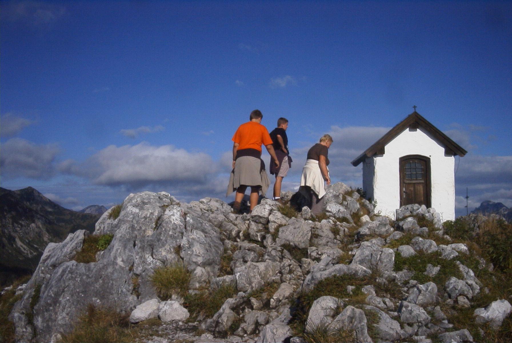 Am Gipfel des Brünnsteins