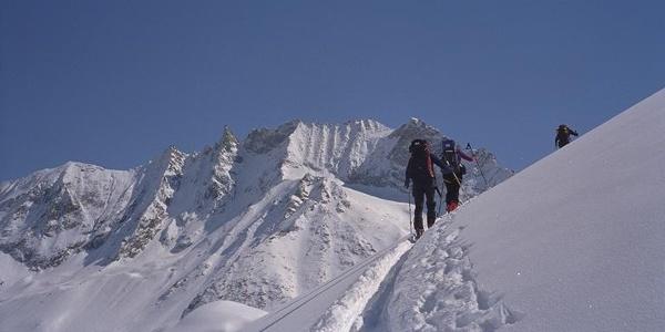 Aufstieg von Arolla in Richtung Col des Vignettes.