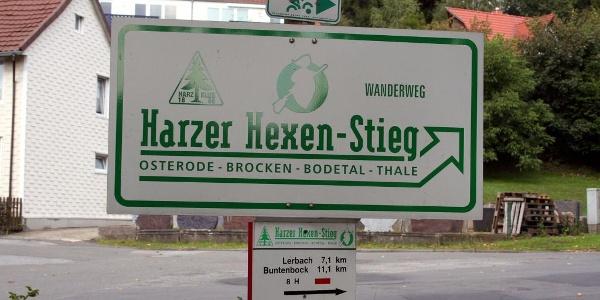 Harzer Hexen Stieg Wegschild