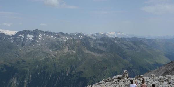 Gipfelblick vom Almerhorn übers Defereggental zur Großglocknergruppe - die nächsten Ziele?