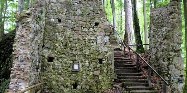 Ruine Rottenburg - Versöhnungsstiege