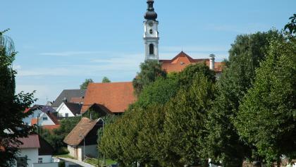 Das Ortsbild von Altomünster wird geprägt durch die Klosterkirche.