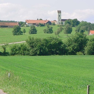 Beeindruckende Landschaft vor Machtlfing.