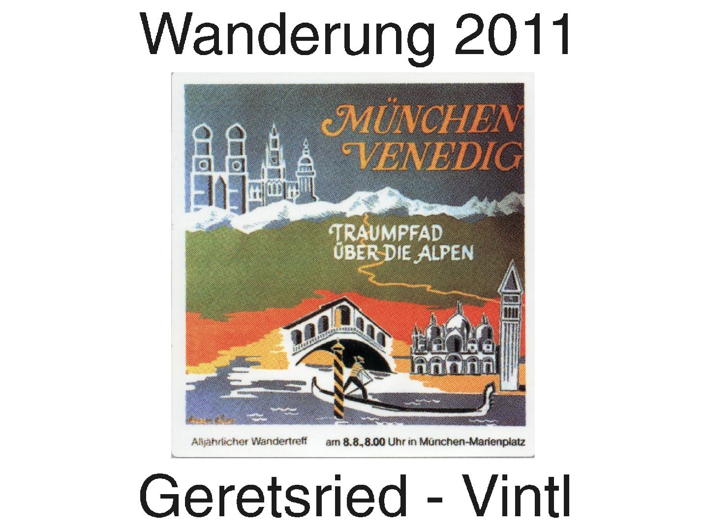 München Venedig Teilstrecke Von Geretsried Nach
