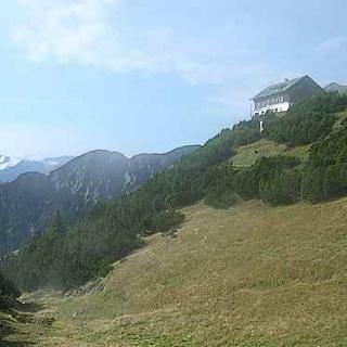 Blick auf das Solsteinhaus.