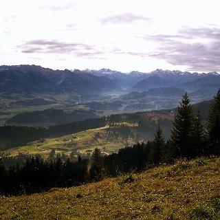 Blick in die Allgäuer Alpen.