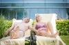 Relaxen im Saunagarten  - @ Autor: Melanie Waltner  - © Quelle: Schwäbische Bäderstraße