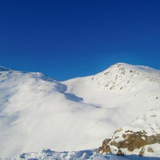 Das Horbergjoch - Aufstiegsspur ist deutlich zu erkennen