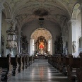 Blick in die Wallfahrtskirche von Todtmoos.