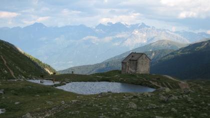 Blick auf die alte Pforzheimer Hütte.