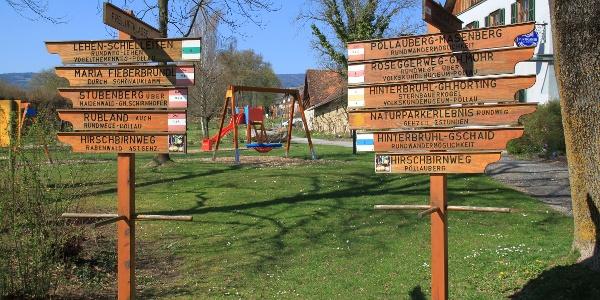 Wegweiser, Schlosspark