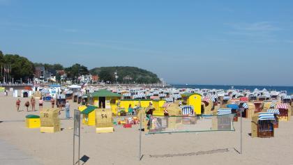 Das Strandbad in Travemünde.
