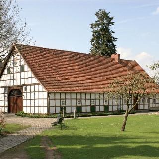 In Lotte können wir diesen alten Fachwerk-Hof bewundern.