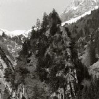 altes Bild der Ruine Valkastiel
