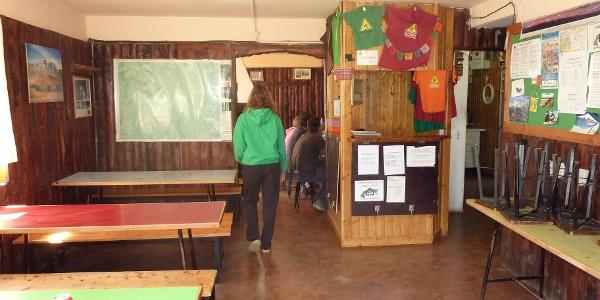 Im Innern des Refugio Góriz