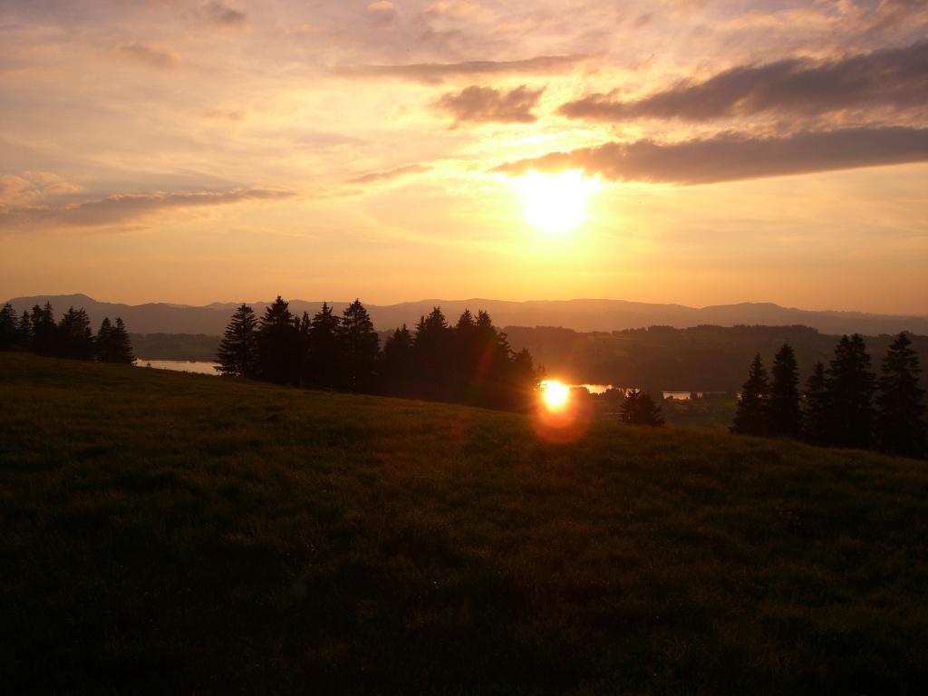 Rottachspeicher vom Gerhalderundweg aus - Abendstimmung.  - @ Autor: hansen.birgit@gmx.de  - © Quelle: Outdooractive Redaktion