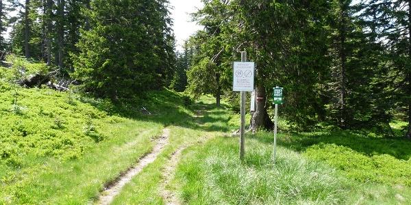 Wir erreichen die Grenze Europaschutzgebietes (Natura 2000).
