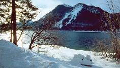 Winter am Walchensee.